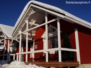 A Cottage of Santa Claus Holiday Village at Santa Claus Village in Rovaniemi in Finland