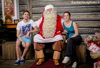 Meeting Santa Claus in Santa Claus Holiday Village in Rovaniemi all year round