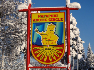 Arctic Circle and Santa Claus Village in Lapland