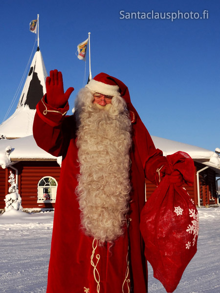 Santa Claus and Christmas House in Santa Claus Holiday Village in Rovaniemi (Finland)