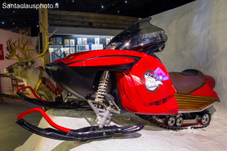 Santa's snowmobile at our Christmas exhibition in Santa Claus Holiday Village in Rovaniemi