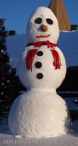 A snowman of Santa Claus Village in Rovaniemi in Lapland