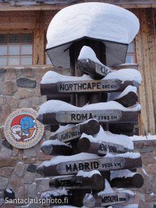 Some distances from Santa Claus Village in Lapland in Finland